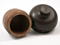 LV_4160  Brown Mallee & Black Palm Wooden Acorn Gift Box, Keepsakes, Jewelry Box-SCREW CAP