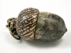 LV-4175 Acorn Pendant Box, Pill Fob from Buckeye Burl & Betel Nut-SCREW CAP