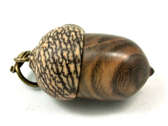 LV-4185 Chinese Pistachio & Betelnut Acorn Key Fob, Pill Holder, Cash Stash-SCREW CAP