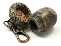 LV-4193 Buckeye Burl & Betelnut Acorn Key Fob, Pill Holder, Cash Stash-SCREW CAP
