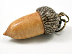 LV-4194 Timborana & Betelnut Acorn Key Fob, Pill Holder, Compartment Pendant-SCREW CAP
