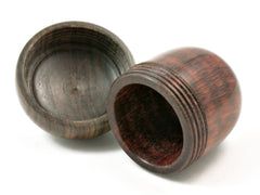 LV-4213 Snakewood & Suriname Ironwood Acorn Jewelry, Engagement Ring Box, Pill Box-SCREW CAP
