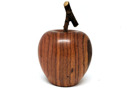 LV-4248  Hand Turned Apple Salt & Pepper Shaker, Secret Compartment from Cocobolo Rosewood