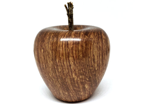 LV-4249  Hand Turned Apple Salt & Pepper Shaker, Secret Compartment from African Rosewood