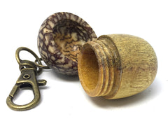 LV-4314 Acorn Pendant Box, Charm, Pill Holder from Yellowheart & Betelnut-SCREW CAP