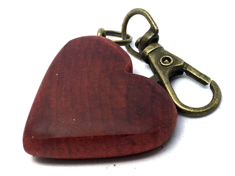 LV-4366  Heart Shaped Charm, Keychain, Wedding Favor Made from Redheart Wood-HAND CARVED