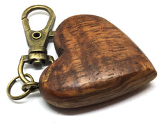 Reserved for Olaf LV-4373  Curly Hawaiian Koa Wooden Heart Shaped Charm, Keychain, Unique Hand Made