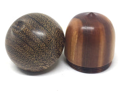 LV-4409  Manzanita & Brownheart Acorn Pill Box, Engagement Ring Box-SCREW CAP