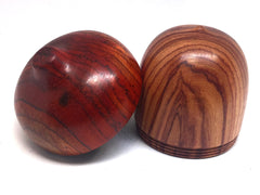 LV-4421 Tulipwood & Cocobolo Acorn Jewelry Box, Pill Box, Trinket Box-SCREW CAP