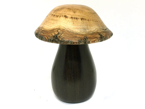 LV-4511   Golden Rain Tree cap and Black Chacate Mushroom Threaded Box from, Jewelry Box, Pill Box-SCREW CAP