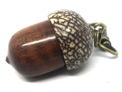 LV-4519  Acorn Pendant Box, Compartment Jewelry from Snakewood & Betel Nut-SCREW CAP