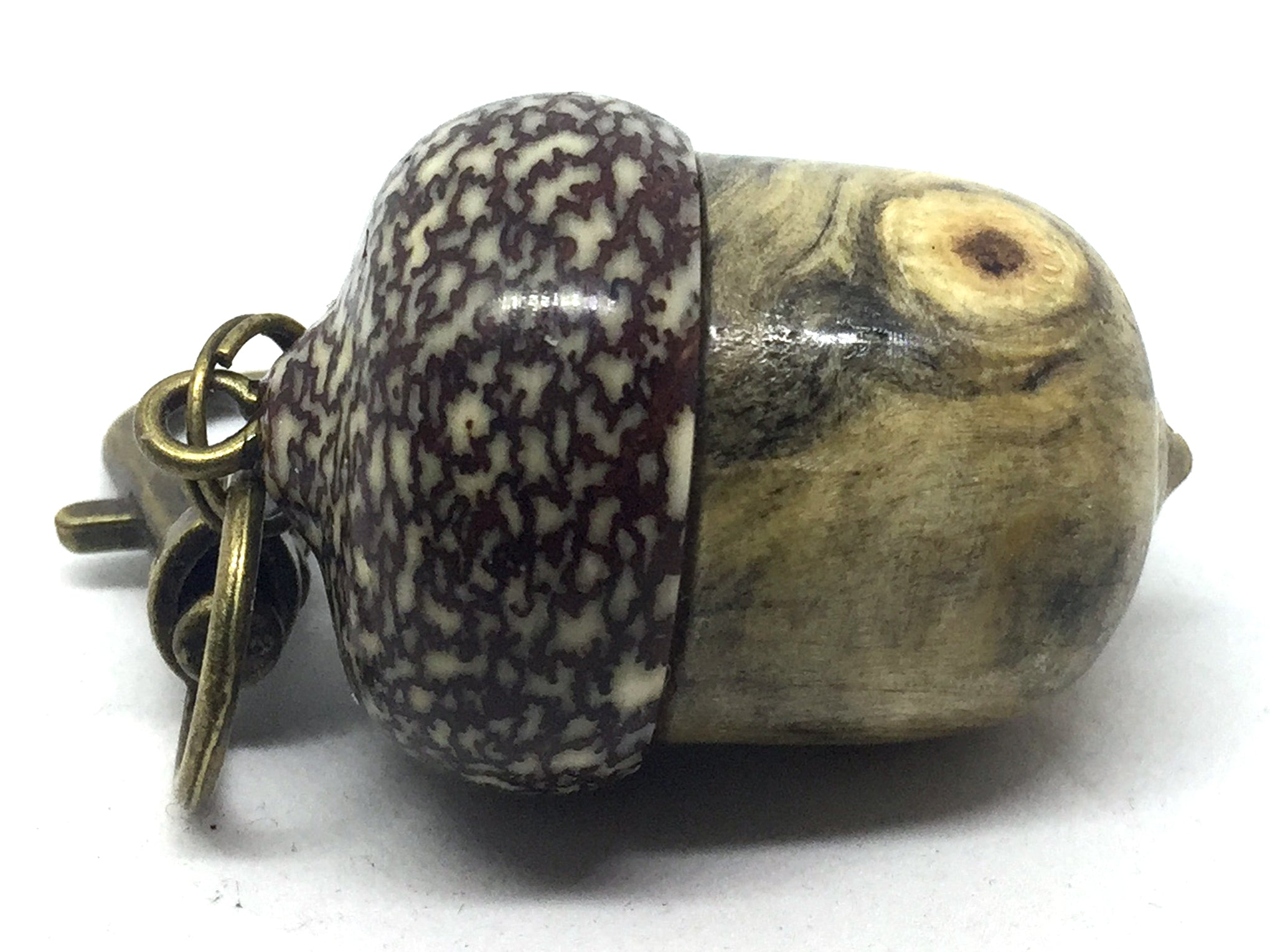 LV-4643 Acorn Pendant Box, Pill Fob from Buckeye Burl & Betel Nut-SCREW CAP