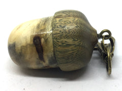 LV-4646  Buckeye & Verawood Acorn Key Fob, Pill Holder, Memorial Pendant-SCREW CAP