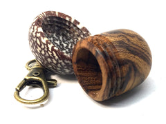 LV-4690 Desert Ironwood & Betelnut Acorn Pendant Box, Charm, Pill Holder-SCREW CAP