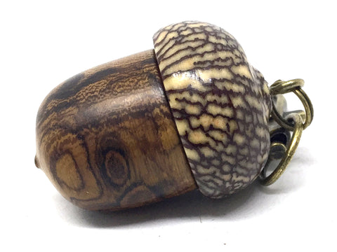 LV-4692 Desert Ironwood & Betelnut Acorn Pendant Box, Charm, Pill Holder-SCREW CAP