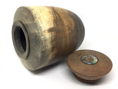 LV-4774  Rainbow Poplar  with Asian Satinwood and Abalone Inley Threaded Vessel