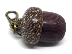 LV-4883 Camatillo & Betelnut  Acorn Pendant Box, Charm, Pill Holder-SCREW CAP