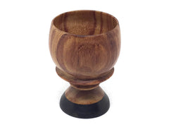 LV-4907 Tulipwood with Mun Ebony base mini goblet - CUTE