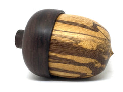 LV-4926 Marblewood & East Indian Rosewood Acorn Jewelry Box, Keepsake-SCREW CAP