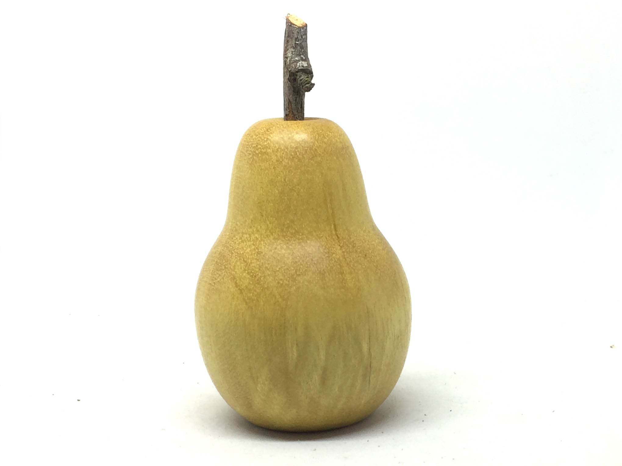 LV-4961  Hand Turned Pear Shaped Salt & Pepper Shaker, Secret Compartment from Yellowheart Wood