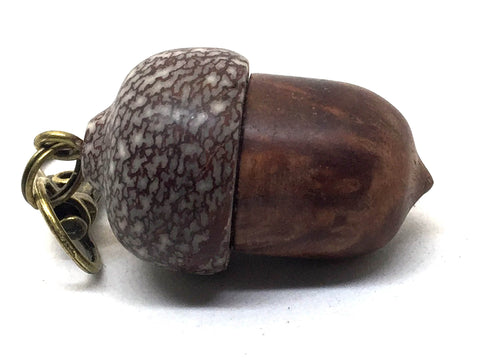 LV-4979 Redwood Burl & Betel Nut Acorn Pendant Box, Charm, Pill Holder-SCREW CAP