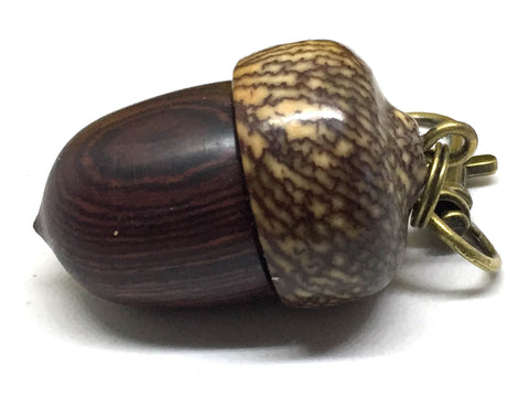 LV-4980 Camatillo & Betelnut  Acorn Pendant Box, Charm, Pill Holder-SCREW CAP