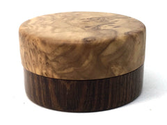 LV-4998  Olive Burl cap with Suriname Ironwood, Ring Holder, Jewelry Box-SCREW CAP