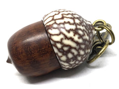 LV-5002  Acorn Pendant Box, Compartment Jewelry from Snakewood & Betel Nut-SCREW CAP