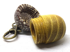 LV-5023 Osage Orange & Betel Nut Acorn Pendant Box, Keychain, Pill Fob-SCREW CAP