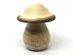 LV-5036 Birdseye Maple  & Valley Oak Wooden Mushroom Keepsake Box, Pill, Jewelry Box-THREADED