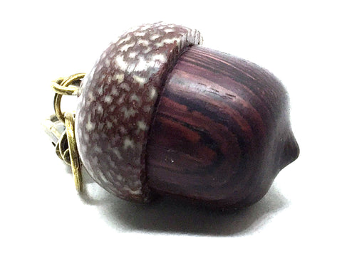 LV-5046 Camatillo & Betelnut  Acorn Pendant Box, Charm, Pill Holder-SCREW CAP