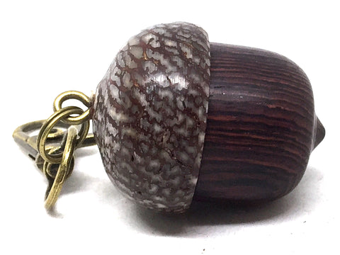 LV-5074 Camatillo & Betelnut  Acorn Pendant Box, Charm, Pill Holder-SCREW CAP
