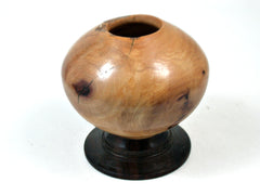 LV-792 Giant Sequoia & Desert Ironwood Hand Turned Footed Vase, Hollow Form-RARE