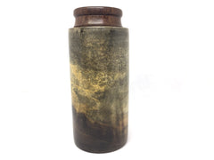 LV-4485  Rainbow Poplar  with Brown Ebony Cap Threaded Vessel