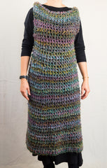LVO-105 Pull Over Long Dress-Hand Crochet-Ready to Ship