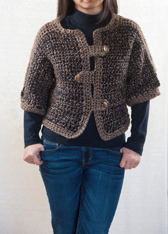 LVO-129 Napoleon Reversible Vest-Hand Crochet-Ready to Ship