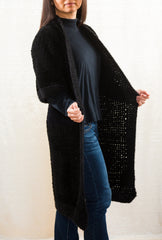 LVO-135  Reversible Kimono Jacket-Hand Crochet-Ready to Ship