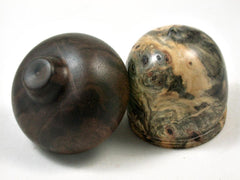 LV-3386  Buckeye Burl & Black Walnut Acorn Jewelry, Ring Box, Pill Box-SCREW CAP
