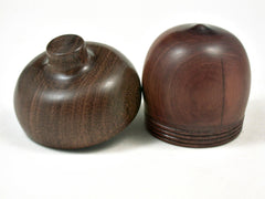 LV-3363  Manzanita & Brown Ebony Acorn Pill Box, Engagement Ring Box-SCREW CAP
