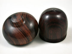LV-3136 Cocobolo & Ironwood Acorn Pill Box, Jewelry, Engagement Ring Box-SCREW CAP