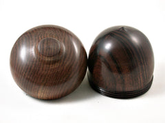 LV-3162  Desert Ironwood & Chechen  Wooden Acorn Pill Box, Jewelry Box -SCREW CAP