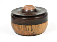 LV-2656  True Lignum Vitae & Desert Ironwood Threaded Trinket, Pill, Jewelry Box--SCREW CAP