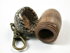 LV-3165  Cork Oak & Betelnut Acorn Box, Pill Holder, Compartment Pendant-SCREW CAP