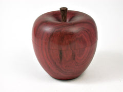 LV-2817  Wooden Apple Threaded Box Made from Redheartheart & Brownheart Stem-SCREW CAP