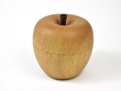 LV-2820  Wooden Apple Threaded Box Made from Yellowheart & Brownheart Stem-SCREW CAP