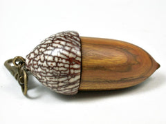 LV-2936  Acorn Pendant Box, Compartment Jewelry from Chittum & Betelnut-SCREW CAP