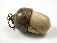 LV-3124  Tree of Heaven & Pollyanna Burl Acorn Box, Pill Holder, Compartment Pendant-SCREW CAP