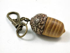 LV-2630 Osage Orange & Betel Nut Acorn Key Fob, Pill Holder, Memmorial Pendant-SCREW CAP
