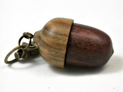 LV-2806  Ironwood & Verawood  Acorn  Pendant Box, Pill  Fob, Charm-SCREW CAP