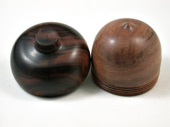 LV-3143  Hawaii Sandalwood & Arizona Ironwood  Acorn Pill Box, Jewelry, Engagement Ring Box-SCREW CAP